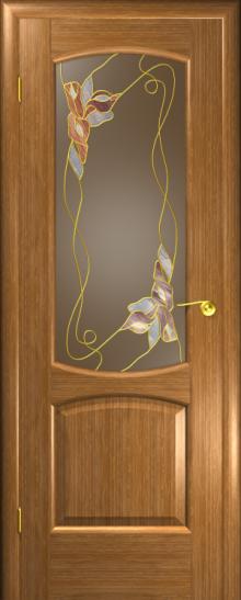 Дверь Венеция Дуб золотой (витраж)