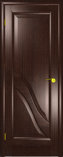 Дверь Виктория Черный дуб (глухое полотно)