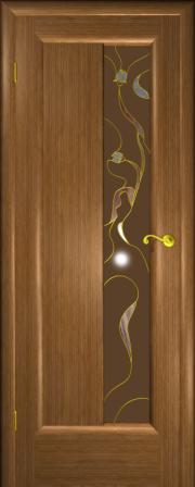 Дверь Любовь-1 Дуб золотой (витраж)