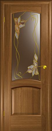 Дверь Севилья Американский орех (витраж Венеция)