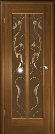 Дверь Любовь Дуб золотой (витраж)