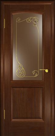 Дверь Мадрид Американский дуб (витраж)