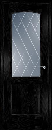 Дверь Мадрид Ясень черный (Серебро) (гравировка)