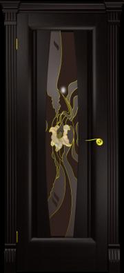 Дверь Лилия Венге капитель (витраж)