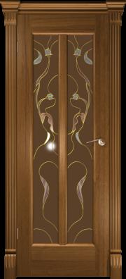 Дверь Любовь Американский орех (витраж)