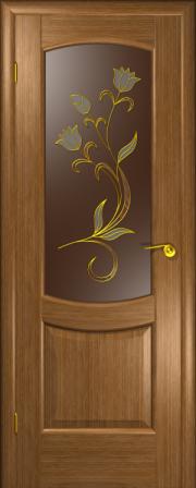 Дверь Палермо Дуб золотой (витраж)