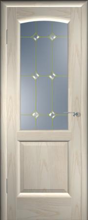 Дверь Мадрид Ясень белый (золото) (фацет)