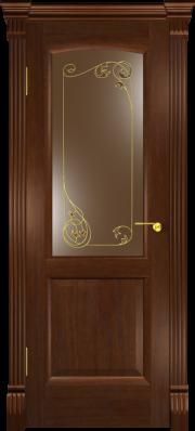 Дверь Мадрид Американский дуб капитель (витраж)