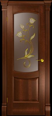 Дверь Палермо Красное дерево (Витраж)